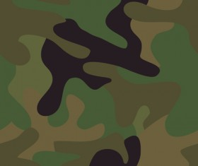 Different Camouflage pattern design vector set 04