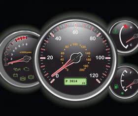 Different Car dashboard design vector 02