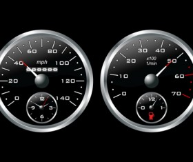 Different Car dashboard design vector 04