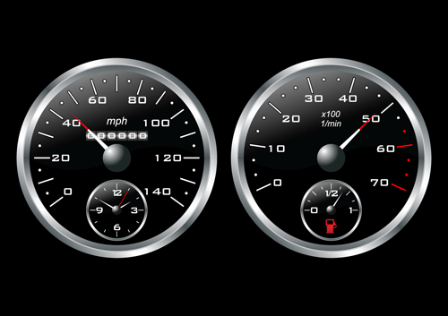 Different car dashboard design vector 04 – Over millions