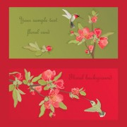 Link toHand drawn flower of stylish card vector 01