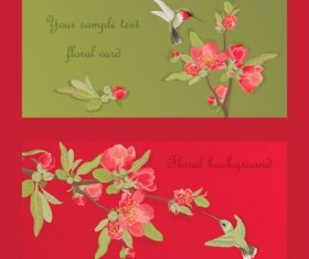 Hand drawn flower of Stylish card vector 01