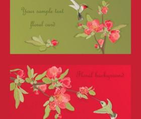 Hand drawn flower of Stylish card vector 01