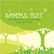 Link toSet of card with trees background vector 04
