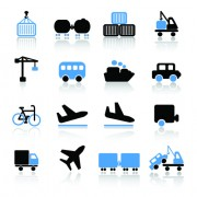 Link toDifferent cargo with transport icons vector 03