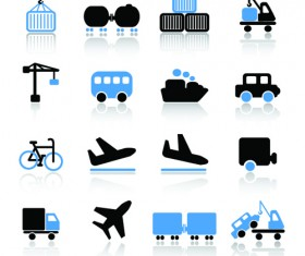 Different Cargo with Transport icons vector 03
