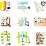 Link toDifferent cargo with transport icons vector 04