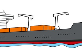Different Cargo ship design vector graphic 01