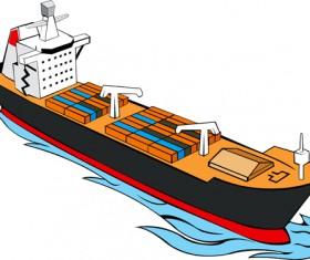 Different Cargo ship design vector graphic 02