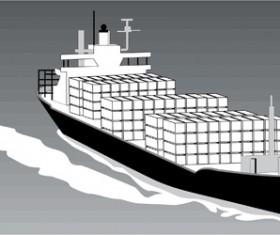 Different Cargo ship design vector graphic 04