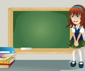 Different Cartoon school child image vector 01