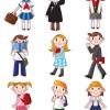 Different Cartoon school child image vector 04