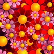 Link toBright colorful flowers vector background set 01