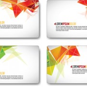 Link toColors origami cards vector
