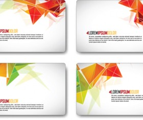 Colors Origami cards vector