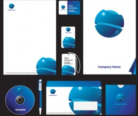 Corporate style cover design elements vector set 01