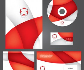 Corporate style cover design elements vector set 04