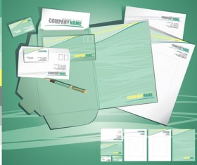 Corporate style cover design elements vector set 05