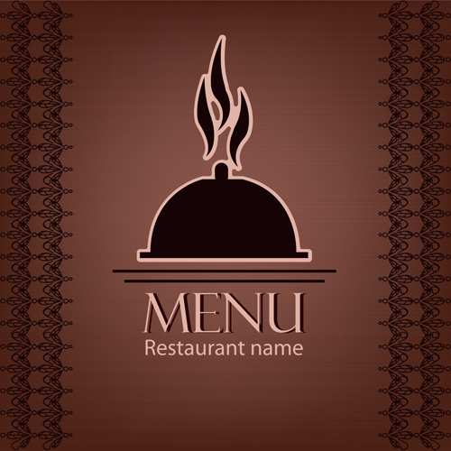 Creative restaurant menu cover design vector