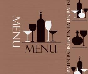 Creative restaurant menu cover design vector 02