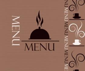 Creative restaurant menu cover design vector 03