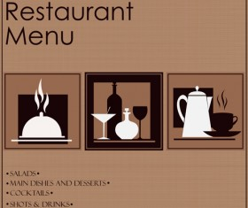 Creative restaurant menu cover design vector 05