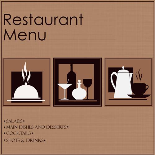 Creative restaurant menu cover design vector 05