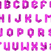 Link toDifferent crystal alphabets mix design vector 03