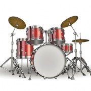 Link toMusic with drums design elements vector 01