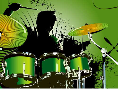 Music With Drums Design Elements Vector 03 Over Millions