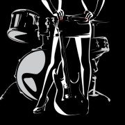 Link toMusic with drums design elements vector 05