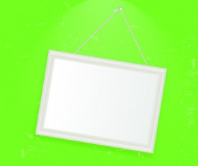 Set of Empty frame Hanging on the wall vector graphic 01