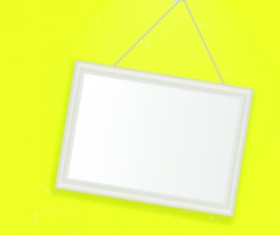 Set of Empty frame Hanging on the wall vector graphic 02