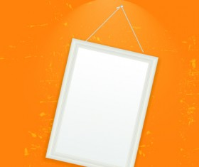 Set of Empty frame Hanging on the wall vector graphic 03