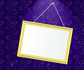 Set of Empty frame Hanging on the wall vector graphic 04