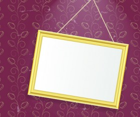 Set of Empty frame Hanging on the wall vector graphic 05