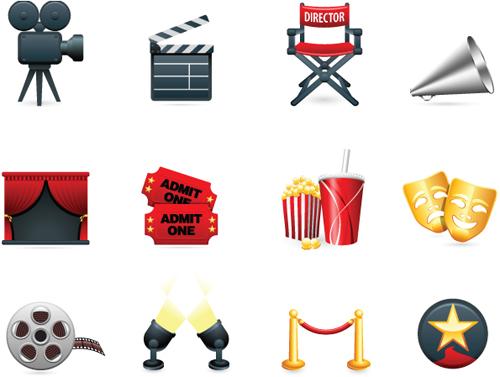 Different Film and movie mix vector 01