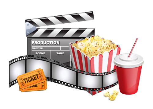 Different Film and movie mix vector 04