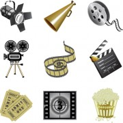 Link toDifferent film and movie mix vector 05