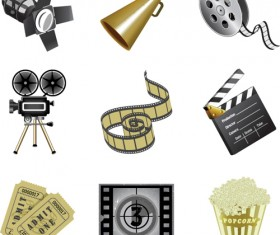 Different Film and movie mix vector 05