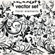 Link toFloral design ornaments elements mix vector 03