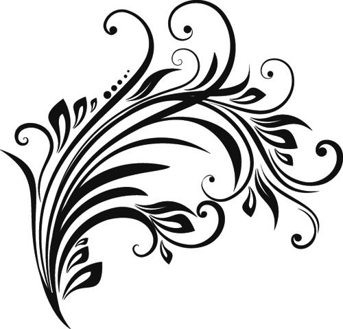 Line Art Design Images : Floral design ornaments elements mix vector free download
