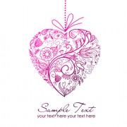 Link toSet of floral heart elements vector 01