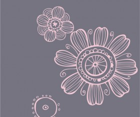 Set of Pretty Floral Ornaments design vector 02