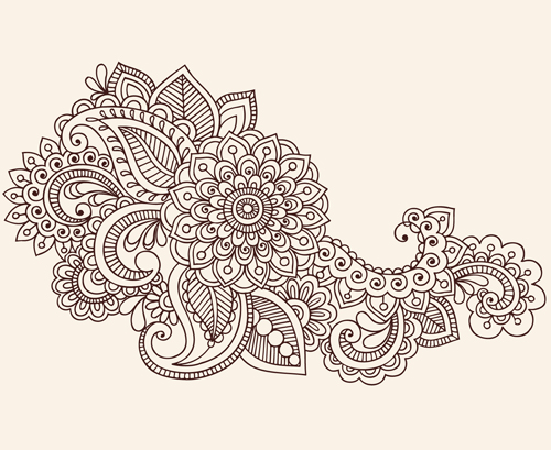 Set Of Pretty Floral Ornaments Design Vector 04 Free Download