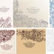 Link toSet of pretty floral ornaments design vector 06