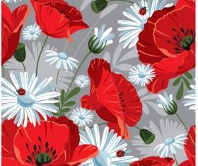 Beautiful Flower Pattern Mix vector 01