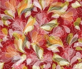 Beautiful Flower Pattern Mix vector 02