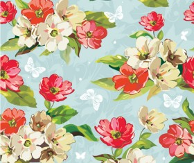 Beautiful Flower Pattern Mix vector 03