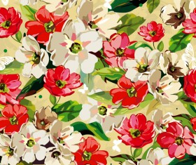Set of different Flower Pattern elements vector 11